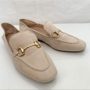 🦩2/$25 H&M / Blush Nude Loafers - Size 39 / 8